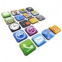 Iconos magnéticos iphone 5, iphone 4 apps para pegar en la nevera o en metales
