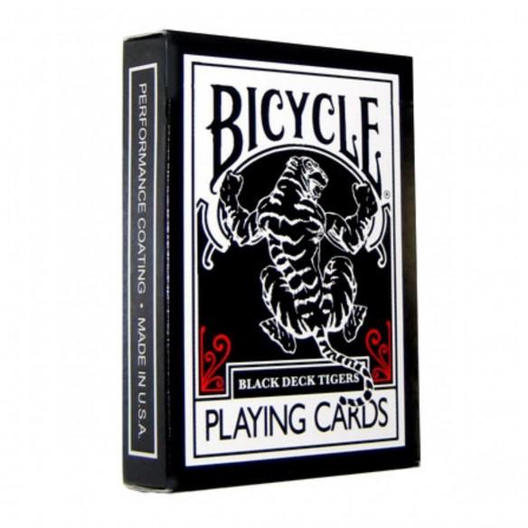 Juego de Cartas Bicycle Black Tiger by Ellusionist Playing Card Tigre Negro Baraja Naipe Pocker