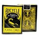 Juego de Cartas Bicycle Black Scorpion Playing Card mazo para trucos de Magia Pocker importada