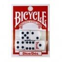 Juego de 5 dados Bicycle en acrílico de alta calidad
