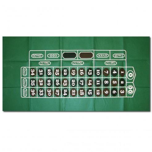 Paño para Juegos de azar, verde Ruleta y Esferódromo 36 x 72 pulg
