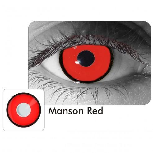 Lentes de Contacto Crazy Manson Voldemort Red