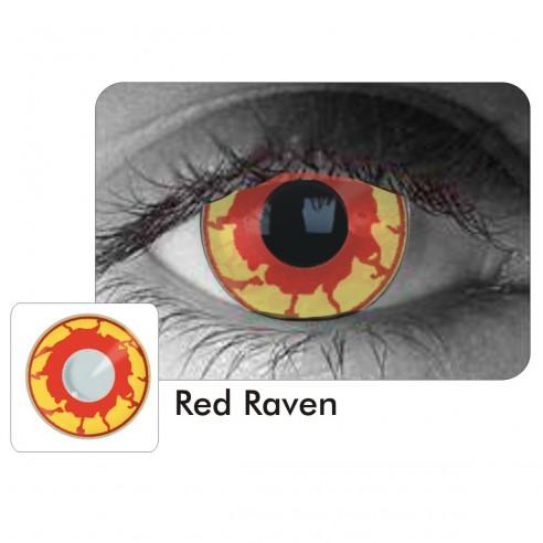 Lentes Locos Red Raven Crazy Lentes Halloween