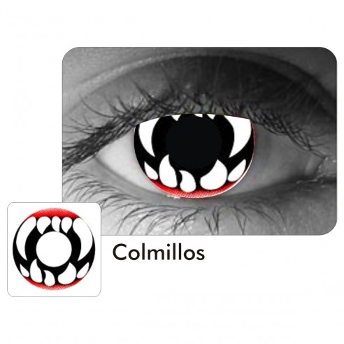 Lentes Locos Fangs of Vampire Crazy Lentes Halloween