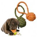 Juguete Bola con agarradera en Lazo de algodón