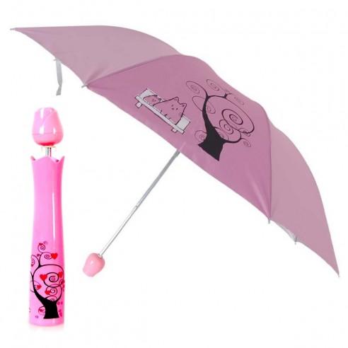 Sombrilla Fashion en forma de Florero UV protección Rosas en colores