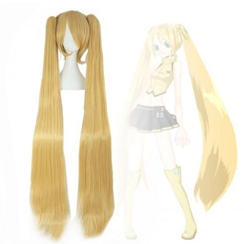Peluca Extralarga Hatsune Miku Cosplay 1.3 mts cabello liso