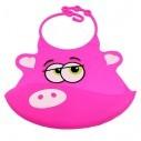 Babero de Silicona Animal Baby Bib