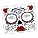 Tatuaje temporal Máscara Dia de los Muertos maquillaje ideal eventos