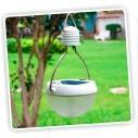 Lámpara Solar Portable Jardines carga solar y con Usb aux + 9 Led
