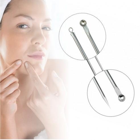 Set x2 Herramientas para remover espinillas y acné, Limpieza facil de puntos negros