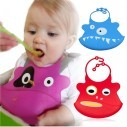 Babero de Silicona Animal Baby Bib Monstruo Shark Rojo