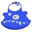 Babero de Silicona Animal Baby Bib Tiburón Azul