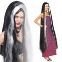 Peluca Princesa Godiva Extralarga de 160cm Negro con mechón