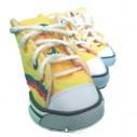 Zapatos Tenis Kpets Vive el mundial Colombia en amarillo, tipo Converse para Perros.