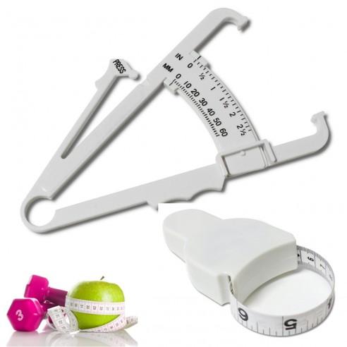 Kit Fitness Control Adipómetro + Cinta Métrica medidores de grasa corporal