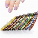 kit de 12 Cintas Nail Art Tirillas adhesivas para manicure