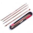 Set x5 Herramientas para remover espinillas y acné, Limpieza facil de puntos negros