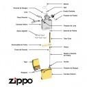 Encendedor Zippo Stamp Iron Stone Engine mecanismo 29529 - Gris