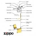 Encendedor Zippo Stamp Naughty Lighter Bs Sunglasses High Polish Chrome 28274 - Plateado