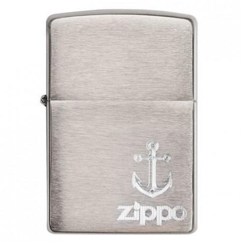 Encendedor Zippo Stamp Anchor Chrome Ancla 29531- Plateado