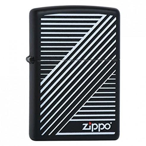 Encendedor Zippo Stamp Lines Líneas 29535 - Negro
