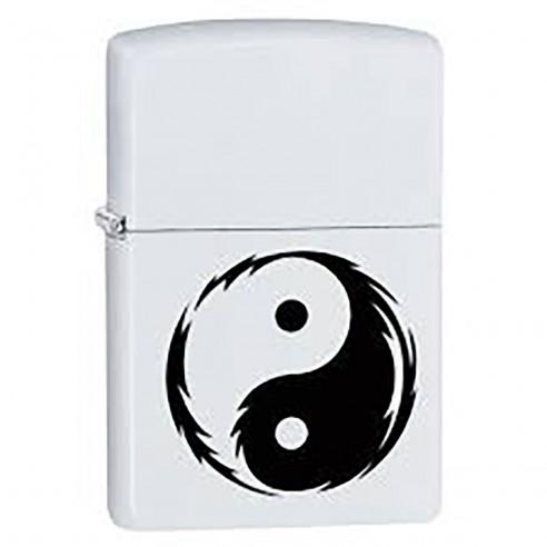 Encendedor Zippo Stamp Yin Yang 29544 - Blanco Negro