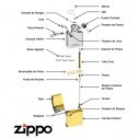 Encendedor Zippo Stamp Colorful Head Pocket Lighter 29083 Yellow Mate - Amarillo