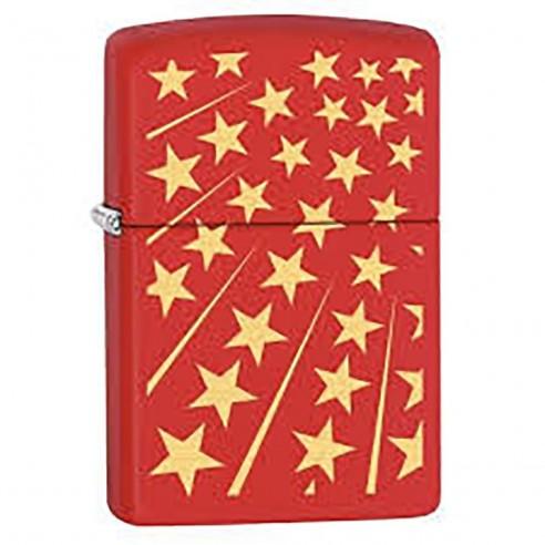 Encendedor Zippo Stamp Red Stars 29548 - Rojo Amarillo