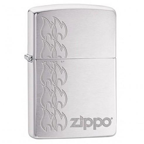 Encendedor Zippo Stamp Flames Lighter Stars 29533 - Plateado