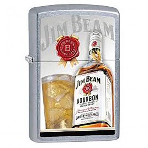 Encendedor Zippo Stamp Jim Beam Street Chrome29124 -plateado