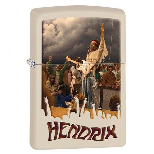 Encendedor Zippo Stamp Jimi Hendrix Concert 29172 Matte Cream - Crema