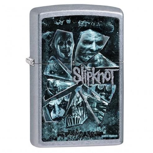 Encendedor Zippo Stamp Slipknot Shattered Glass 28992 Street Chrome - Plateado