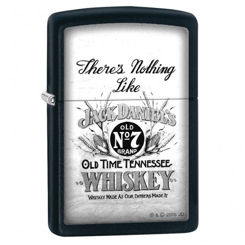 Encendedor Zippo Stamp Jack Daniels There's Nothing Like 29293 Black Matte - Negro