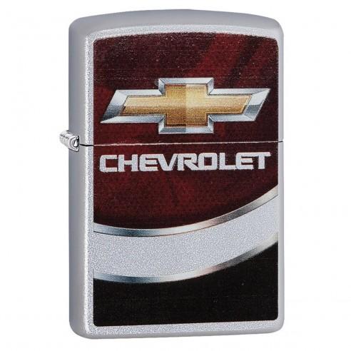 Encendedor Zippo Stamp Chevrolet Chevy 29318 Silver Red Black - Plateado