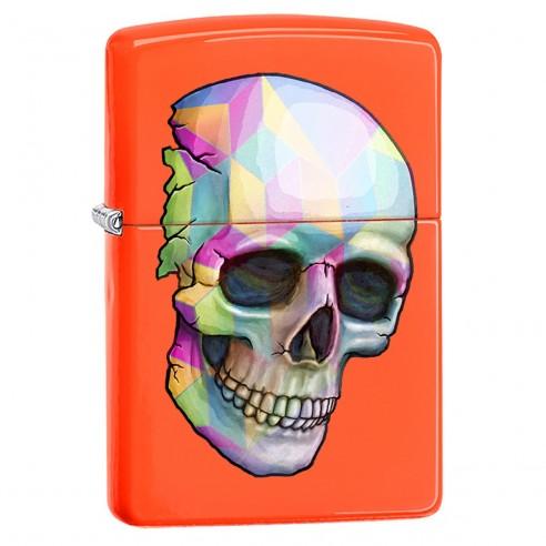 Encendedor Zippo Stamp Skull Colorful Windproff 29402 Orange mate - Naranaja