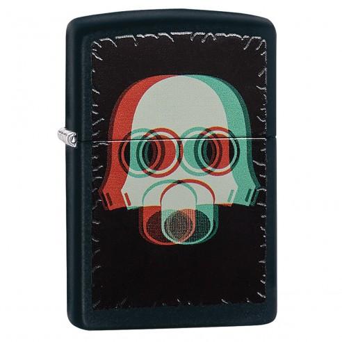 Encendedor Zippo Stamp Nuclear Gas Mask 3d 29417 Black Matte - Negro