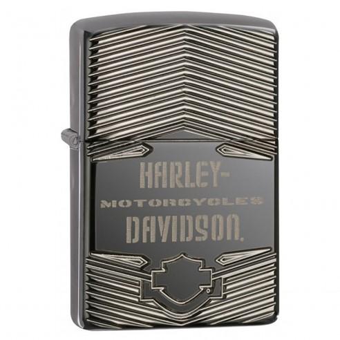 Encendedor Zippo Texture HD Harley Davidson Armor 29165 Black Ice - Negro