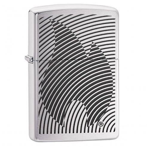 Encendedor Zippo Texture Illusion Flame 29429 Brushed Chrome - Plateado