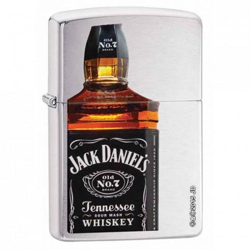 Encendedor Zippo Stamp Jack Daniel's Tennessee Whiskey 28842 Brushed Chrome - Plateado