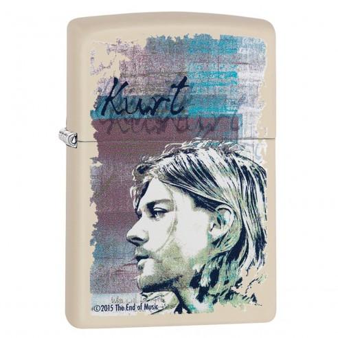 Encendedor Zippo Stamp Kurt Cobain Profile 29051 Matte Cream - Crema