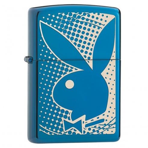 Encendedor Zippo Stamp PlayBoy Bunny Sapphire 29064 turquesa Laser Engrave