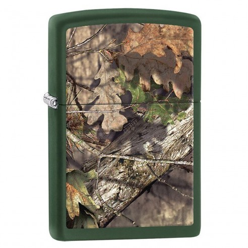 Encendedor Zippo Stamp Mossy Oak Break-up Camo 29129 Matte Green - Verde