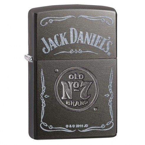 Encendedor Zippo Stamp Jack Daniel's No 7 Pocket Lighter 29150 Gray Dusk - Gris