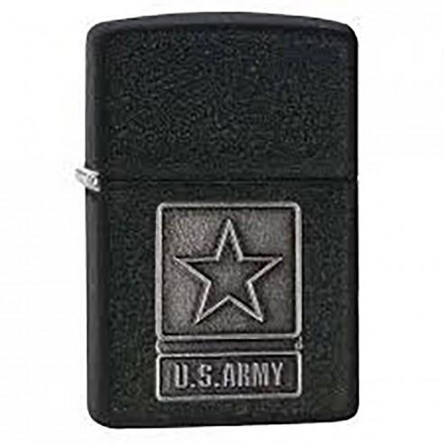 Encendedor Zippo texture 1941 US Army Pewter Emblem 28583 black crackle - negro