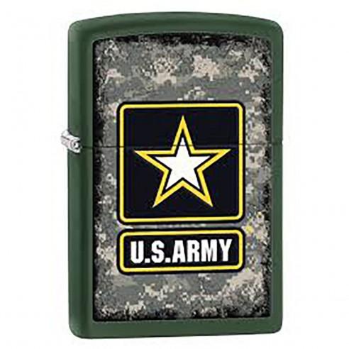 Encendedor Zippo Stamp Us Army Wind-resistant 28631 Green Matte - verde