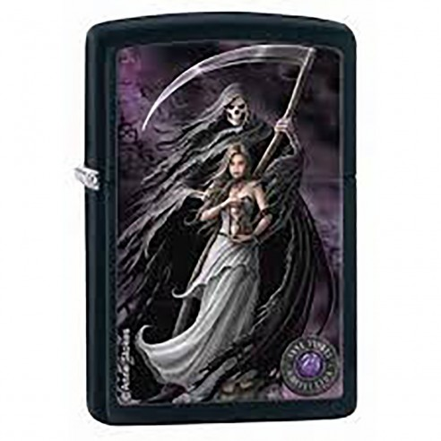 Encendedor Zippo Stamp Anne Stokes Collection 3 Finish 28856 Black Matte - Negro