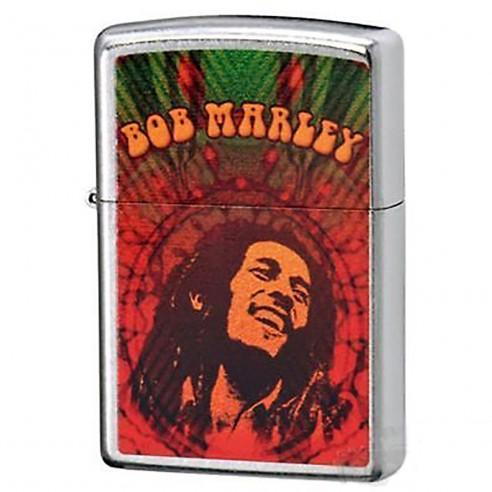 Encendedor Zippo Stamp Bob Marley 24991 Street Chrome - Plateado