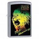 Encendedor Zippo Stamp Bob Marley Iron Lion In Green/yellow/red 28844 Street Chrome - Plateado