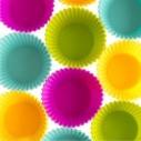 Set x 6 Moldes de silicona para cupcakes Muffin Magdalenas